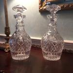 Pair of Waterford decanters