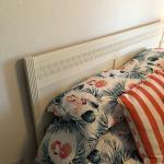 Queen bed, dresser, and nightstand