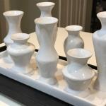 White Vases on Tray