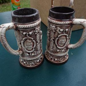 Photo of #10, 2 Ceramic Craft Mugs, 1960's