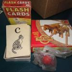 Vintage Flash Cards & Model, Jack & Ball