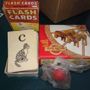 Photo of Vintage Flash Cards & Model, Jack & Ball