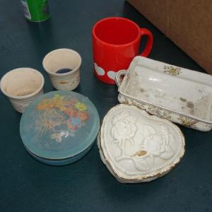 Photo of #26 Misc. Trivets, Candle Holders, Trinket Boxes, Planter, Cup