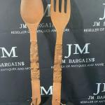 Fork & Spoon wooden Home Deco