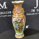 Geisha Hand Painted Vase