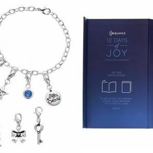 Photo of Brilliance 12 Days of Joy Charm Bracelet and Necklace Set