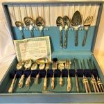 Vintage Silver Plated Silverware Set in Case