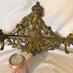 Heavy Brass Antique Coat/Clothes Hanger