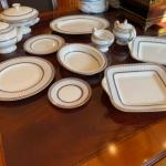 Wedgewood (black) colonnade bone china set