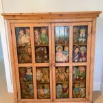 Antique hand painted chest