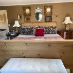 Restoration Hardware scrubbed pine King bed