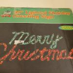 """Lot 322: Merry Christmas 45"""" Wide Greeting Sign"""