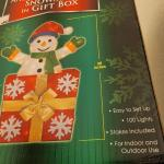 """Lot 316: 30"""" SNOWMAN Inflatable Yard Deco"""