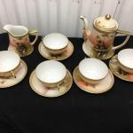 Hand Painted Porcelain Tea Set Vintage Japan