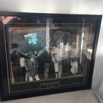 """Jackie Gleason and Arnold Palmer 1961 Framed and Mat """"And Away We Go"""""""