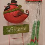 Lot 331: Welcome Christmas Sign + Elf Shoe Stakes