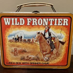 Photo of Wild Frontier metal lunchbox w/spinner game, NO THERMOS
