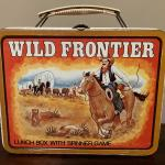 Wild Frontier metal lunchbox w/spinner game, NO THERMOS