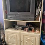 Girls Bedroom Set Full size bed, Dresser, nightstand and entertainment center