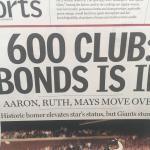 "San Jose Mercury News August 10, 2002 ""What a Blast"" Bonds 600th Home"
