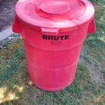 BRUTE 44 gal. TRASH CAN WITH LID