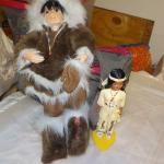American Indian dolls one 12 in. and 5 in.