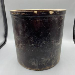 Photo of Vintage Painted Ceramic Crock