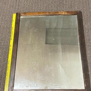 Photo of Large Dark Wood Framed Mirror