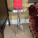 Round chrome table