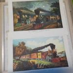 2- Currier & Ives Railroad of Yesteryear Prints.