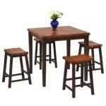 Weitzel 5 Piece Solid Wood Dining Set