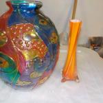 Amazing Vases Glass Multi color and Twisted Translucent Vase.