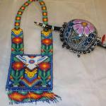 Native American hand made bead Dress and hand painted Armadillo.