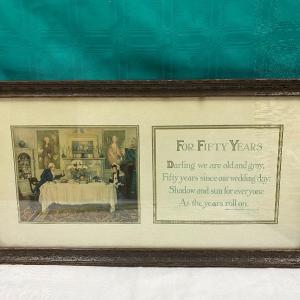 """Photo of """"For Fifty Years"""" Wall Art"""