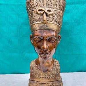 "Photo of 20"" Egyptian Queen Nefertiti Bust"
