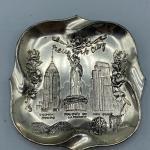 Vintage Pot Metal New York City Trinket Souvenir Dish