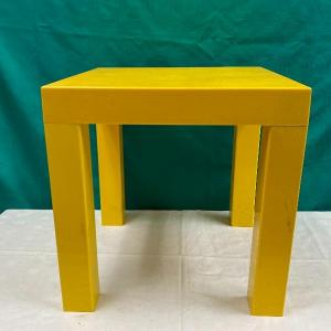 Photo of Primary Yellow Plastic Side Table