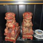 Pair of foo dog bookends