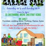 Garage Sale Weather permitting