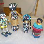 African hand made dolls.