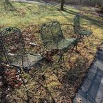 3 Piece wrought iron patio set