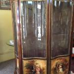 Large Antique French Vernis Martin Cabinet Vitrine Circa 1900
