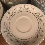 Collection of 88 Piece Made for Sears Harmony House Platinum Garland 3541 China