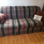3 cushion plaid sofa