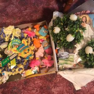 Photo of Huge Lot of Easter /Spring/Bunny Decorations, Wreaths, Lights, Baskets....