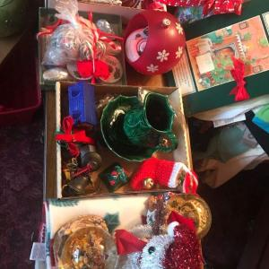 Photo of Huge Lot of Christmas Decorations, Cards, Electric Window Candles, Cookie Jar, O