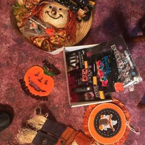 Photo of Lot of Halloween Decorations and Makeup