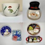 6pc Snowman Kitchen Items