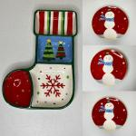 4pc Holiday Serving / Plates