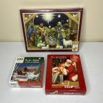 Set of 3 Christmas Puzzles